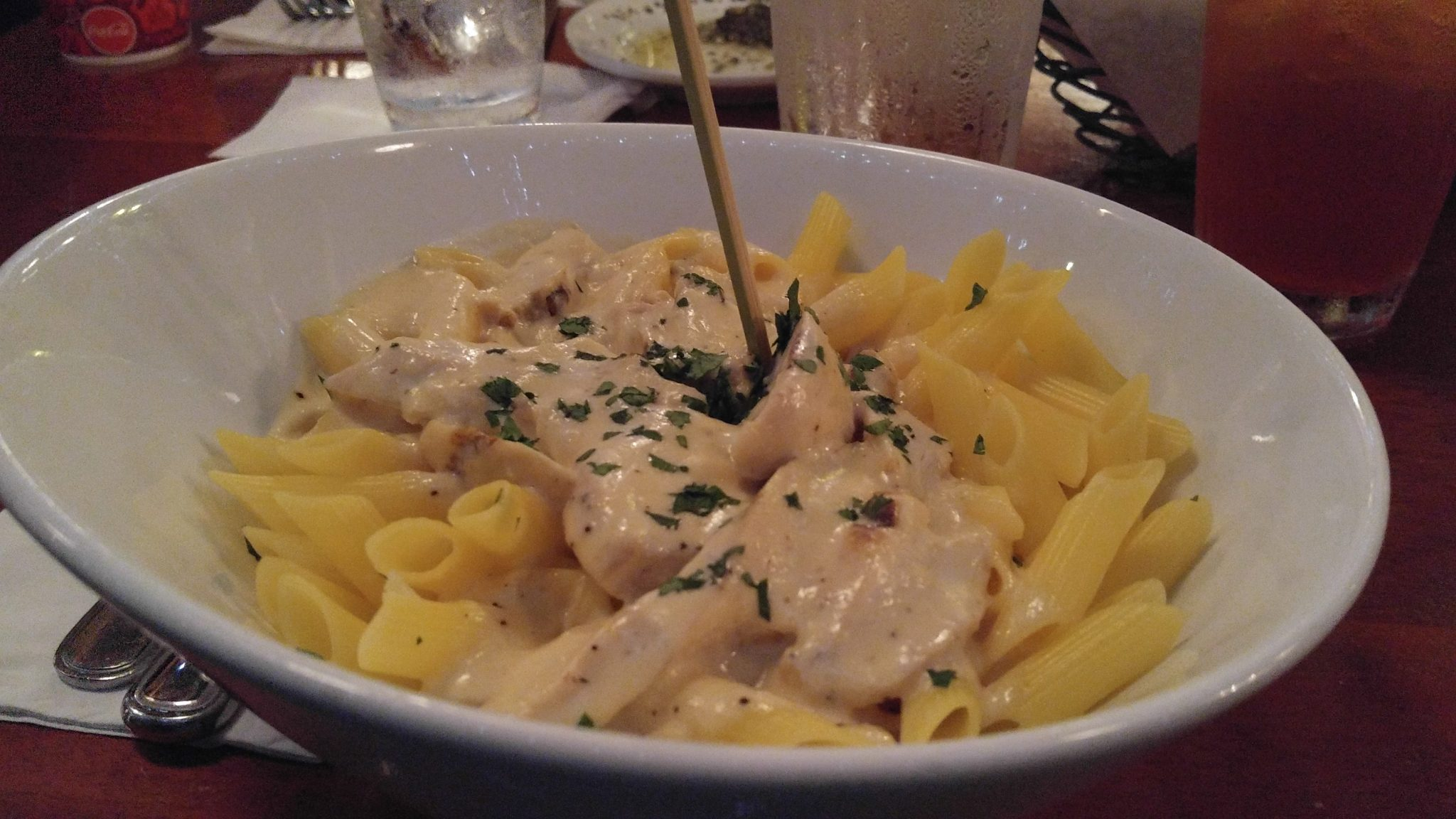 Mama Melrose's gluten free Chicken and penne pasta