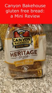 Canyon Bakehouse gluten free bread